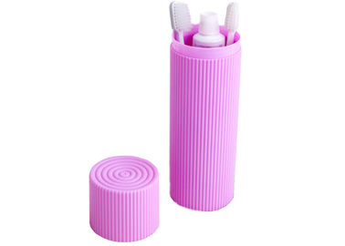 Cina Portable Traval Plactic Corrugated Toothbrush Box Toiletries Stationery Holder Cover Cups Distributor