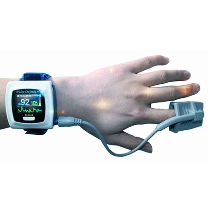 24 hours monitoring wrist pulse oximeter AH-50FW with SPO2 probe